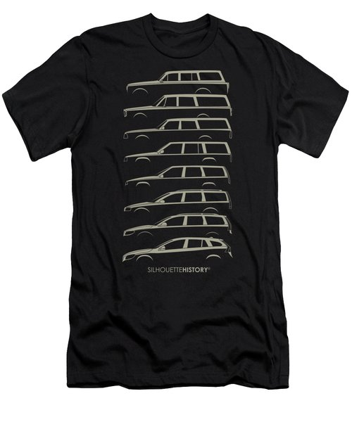 Scandinavian Wagon Silhouettehistory Men's T-Shirt (Athletic Fit)