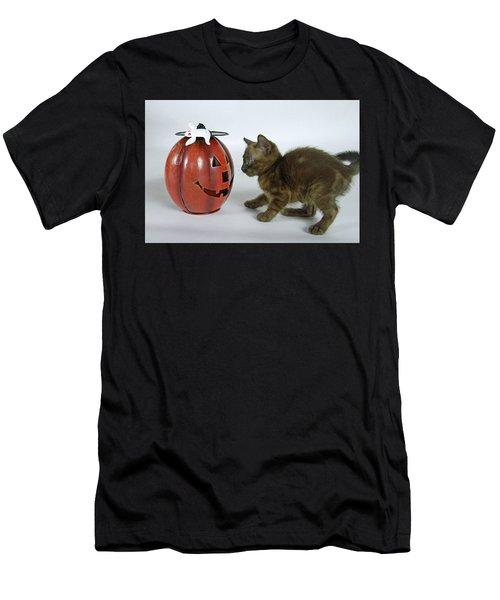 Scaredy Cat Men's T-Shirt (Athletic Fit)