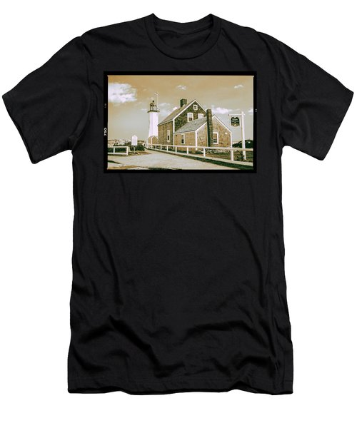 Men's T-Shirt (Slim Fit) featuring the photograph Scituate Lighthouse In Scituate, Ma by Peter Ciro
