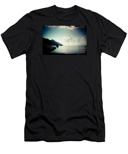 Seascape Sunrise Sea And Clouds  Men's T-Shirt (Athletic Fit)