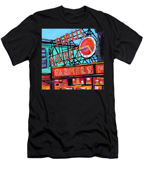 Seattle Public Market Men's T-Shirt (Athletic Fit)