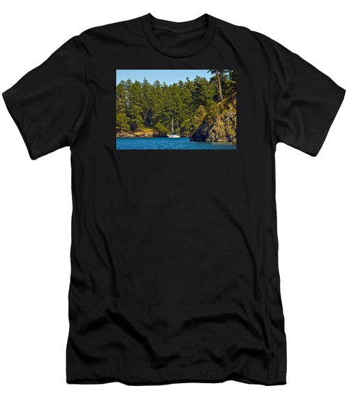 Secluded Anchorage Men's T-Shirt (Slim Fit) by Chuck Flewelling