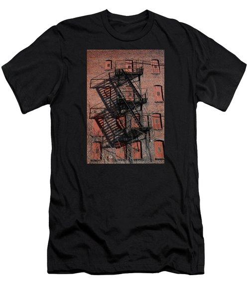 Men's T-Shirt (Slim Fit) featuring the photograph Shadows by Karen Harrison