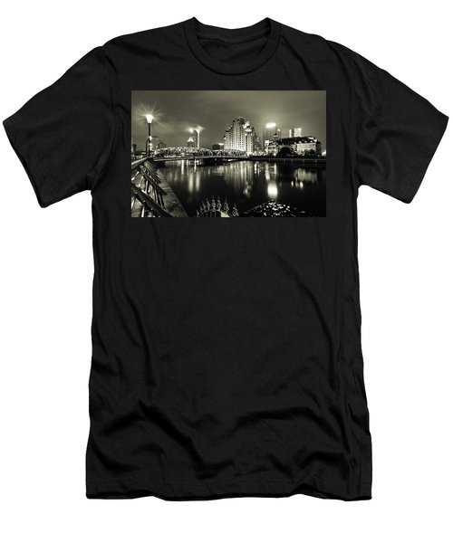 Men's T-Shirt (Athletic Fit) featuring the photograph Shanghai Nights by Chris Cousins