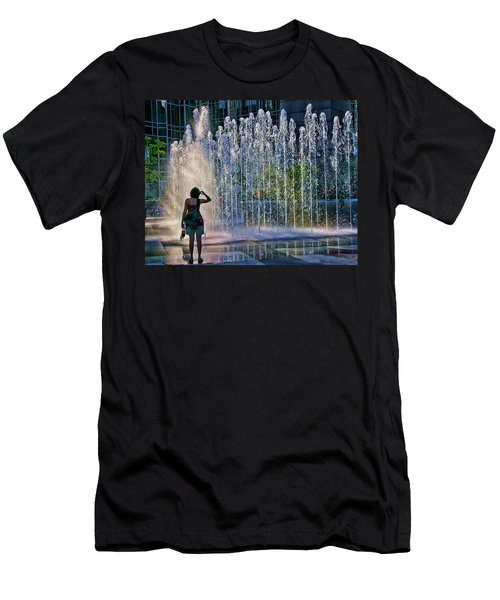 Should I? Men's T-Shirt (Slim Fit) by Rhonda McDougall