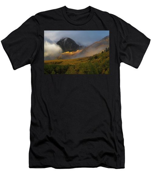 Men's T-Shirt (Slim Fit) featuring the photograph Siever's Mountain by Steve Stuller