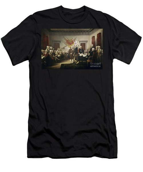 Signing The Declaration Of Independence Men's T-Shirt (Athletic Fit)