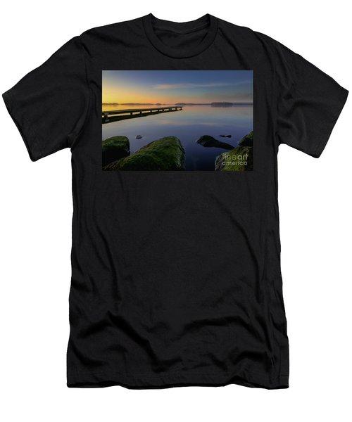 Silence Lake Men's T-Shirt (Slim Fit) by Franziskus Pfleghart