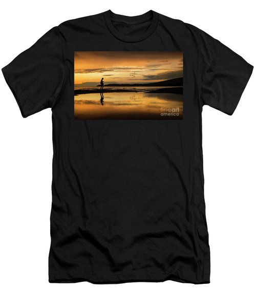 Silhouette In Sunset Men's T-Shirt (Athletic Fit)
