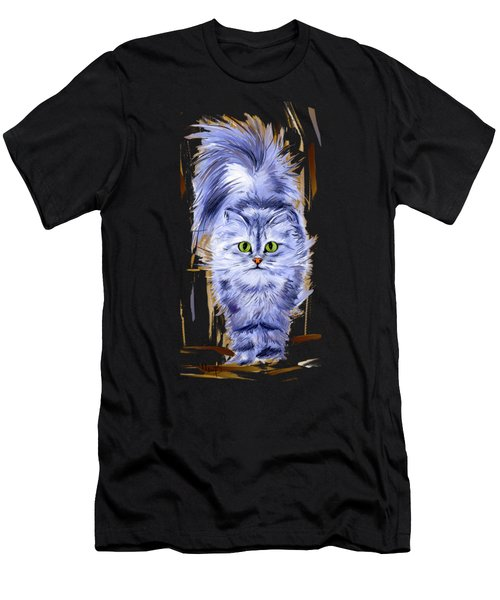 Silver Persian Cat Men's T-Shirt (Athletic Fit)