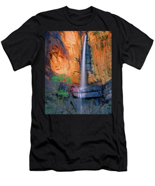 Sinawava Falls Men's T-Shirt (Athletic Fit)