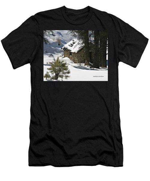 Snow Cabin Men's T-Shirt (Athletic Fit)