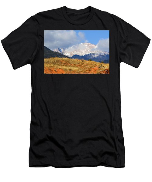 Snow Capped Pikes Peak Colorado Men's T-Shirt (Athletic Fit)