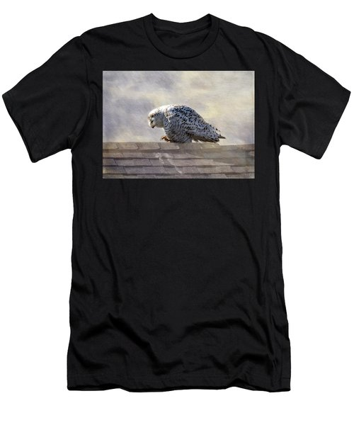 Snowy Owl  Men's T-Shirt (Athletic Fit)