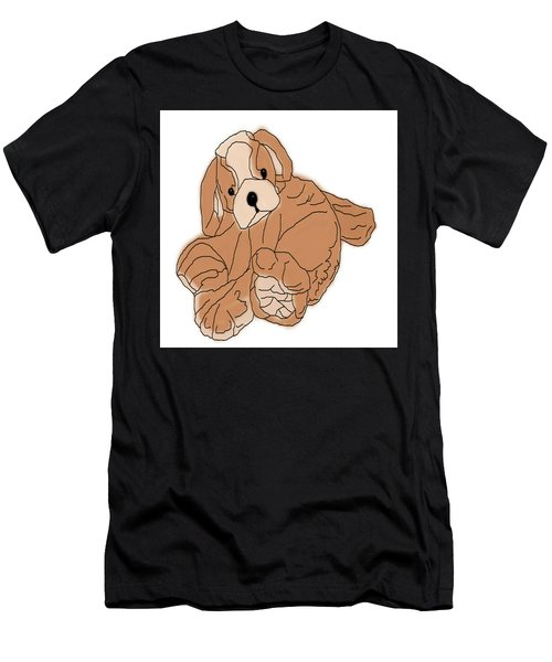 Men's T-Shirt (Athletic Fit) featuring the digital art Soft Puppy by Jayvon Thomas