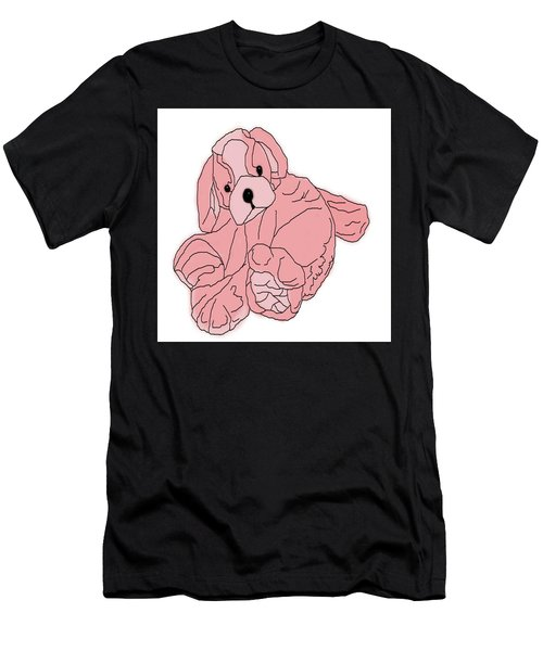 Men's T-Shirt (Athletic Fit) featuring the digital art Soft Puppy Pink by Jayvon Thomas