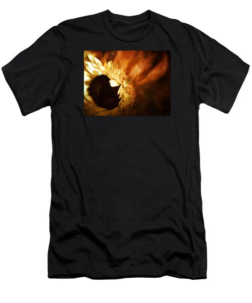 Men's T-Shirt (Athletic Fit) featuring the photograph Soft Sunflower by Michael Hope