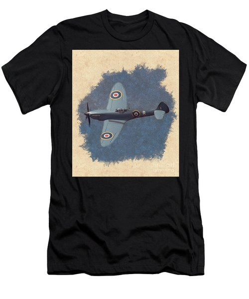 Spitfire - Wwii Fighter Men's T-Shirt (Athletic Fit)