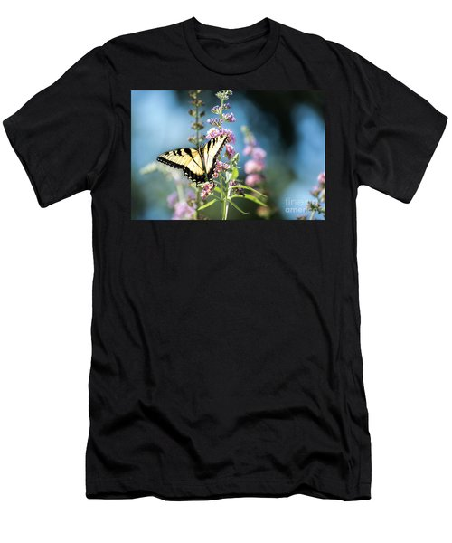Men's T-Shirt (Slim Fit) featuring the photograph Spread Your Wings by Judy Wolinsky