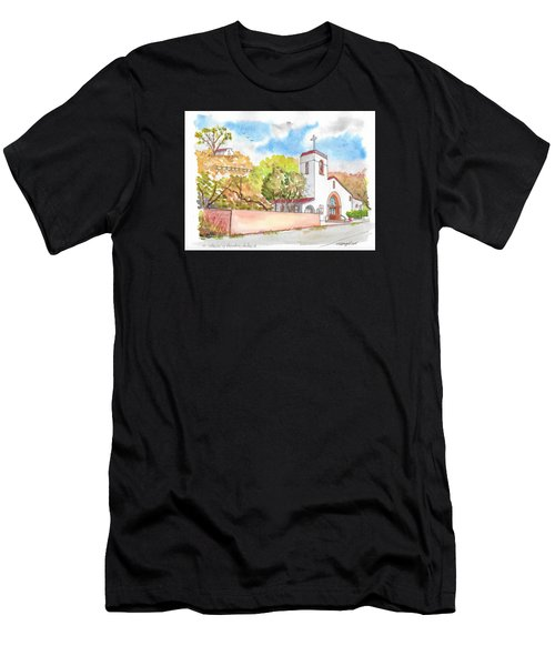 St. Catherine Of Alexandria Catholic Church, Avalon, Santa Catalina Island, Ca Men's T-Shirt (Athletic Fit)