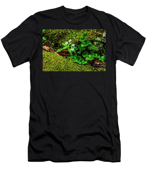 Star Chickweed Mossy Rock Men's T-Shirt (Athletic Fit)