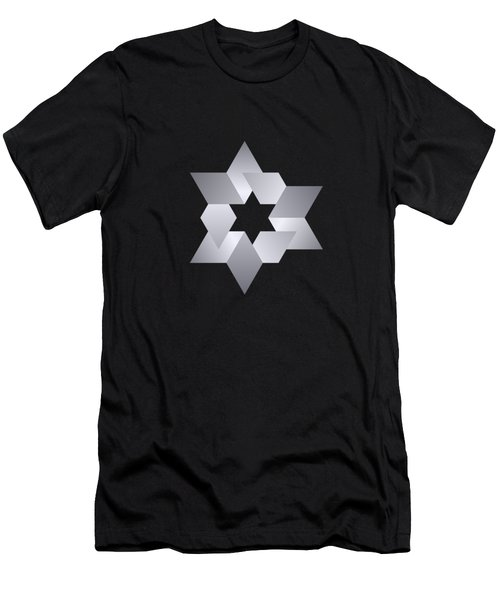 Star From Cubes Men's T-Shirt (Athletic Fit)