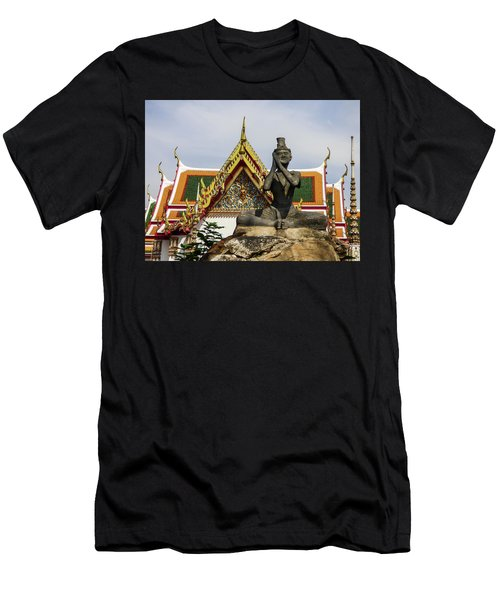 Statue At Famous Wat Pho Temple Men's T-Shirt (Athletic Fit)