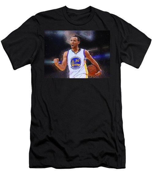 Stephen Curry Men's T-Shirt (Slim Fit) by Semih Yurdabak