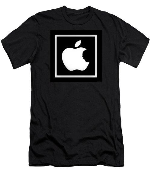 Steve Jobs Apple Men's T-Shirt (Slim Fit) by Rob Hans