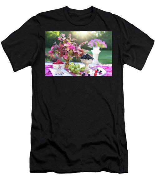 Men's T-Shirt (Athletic Fit) featuring the digital art Still Life by Jill Wellington