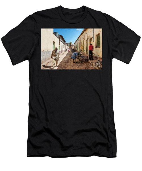 Street In Central Market Area Of Asmara City Eritrea Men's T-Shirt (Athletic Fit)