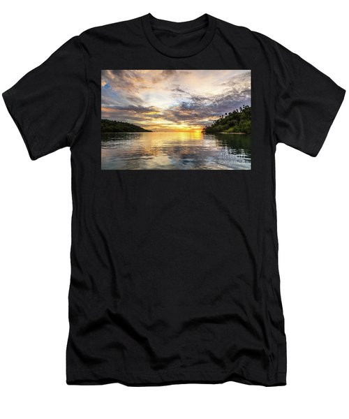 Stunning Sunset In The Togian Islands In Sulawesi Men's T-Shirt (Athletic Fit)