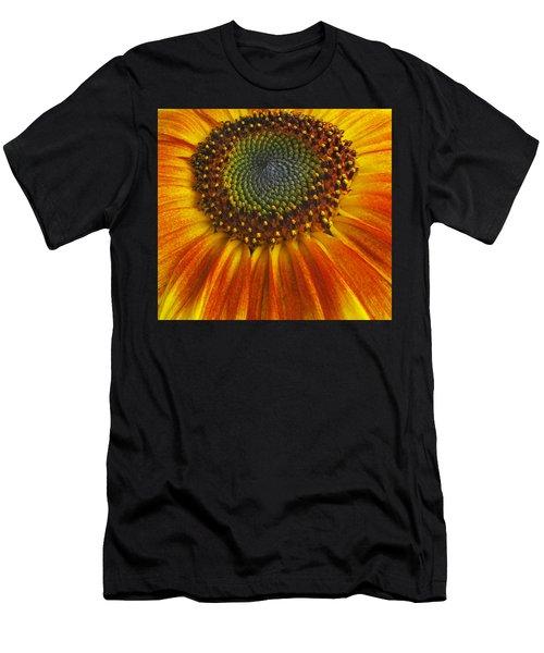 Sunflower Center Men's T-Shirt (Athletic Fit)
