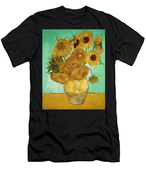 Sunflowers By Van Gogh Men's T-Shirt (Athletic Fit)