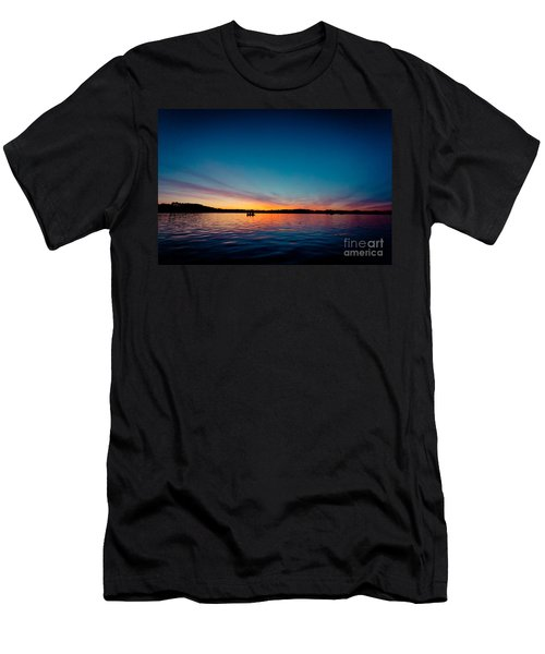 Sunrise Above Lake Water Summer Time Latvia Ezera Skanas Men's T-Shirt (Athletic Fit)