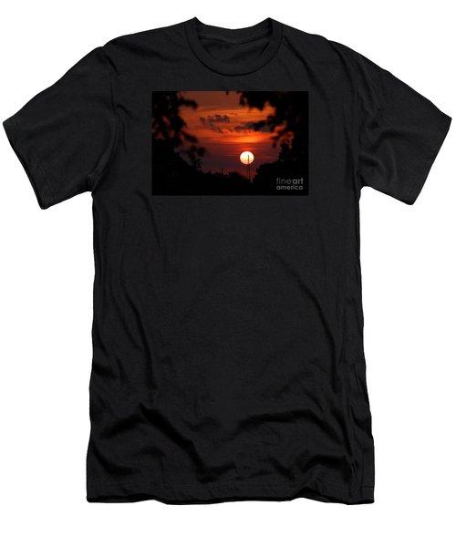 Sunset At Lake Hefner Men's T-Shirt (Athletic Fit)