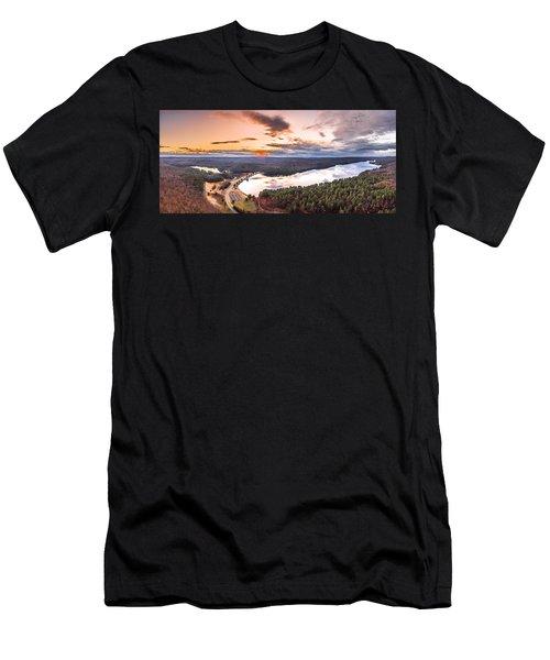 Sunset At Saville Dam - Barkhamsted Reservoir Connecticut Men's T-Shirt (Athletic Fit)