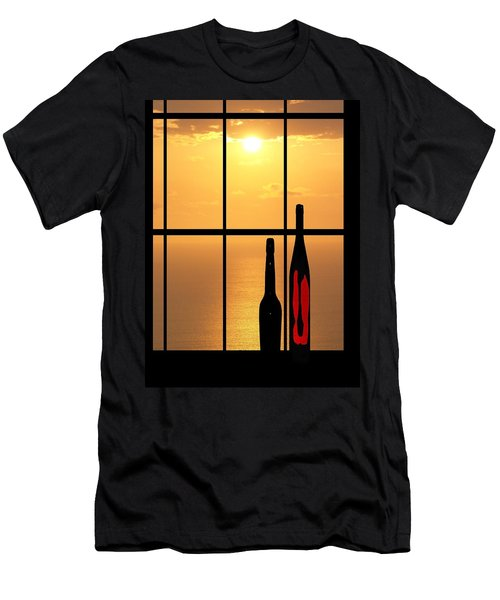 Sunset In Hawaii Men's T-Shirt (Slim Fit) by Athala Carole Bruckner