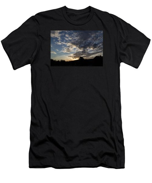 Sunset On Hunton Lane #1 Men's T-Shirt (Slim Fit) by Carlee Ojeda