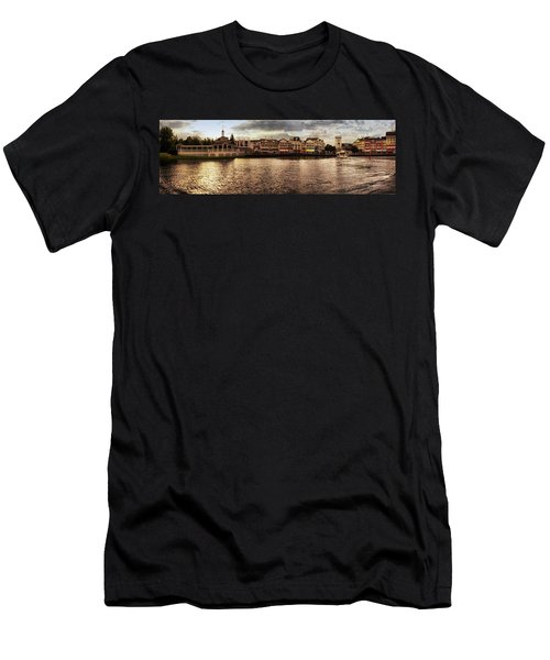 Sunset On The Boardwalk Walt Disney World Mp Men's T-Shirt (Slim Fit) by Thomas Woolworth