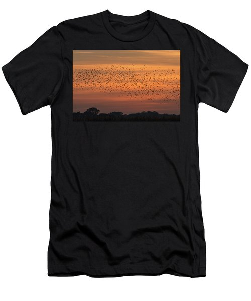 Sunset Starlings  Men's T-Shirt (Athletic Fit)