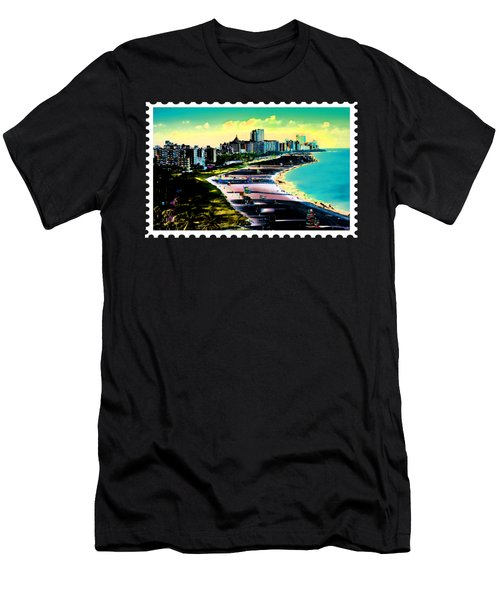 Surreal Colors Of Miami Beach Florida Men's T-Shirt (Athletic Fit)