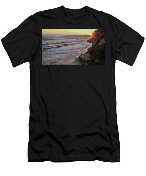 Swamis Sunset Men's T-Shirt (Slim Fit) by Mark Barclay