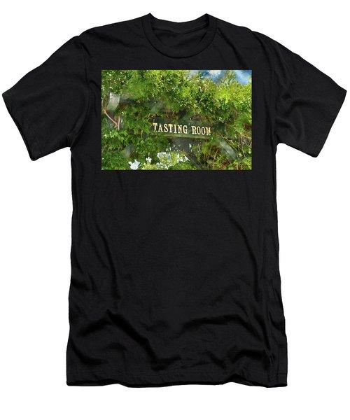 Tasting Room Sign Men's T-Shirt (Athletic Fit)