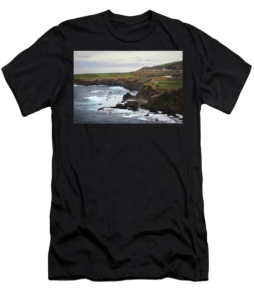Men's T-Shirt (Athletic Fit) featuring the photograph Terceira Coastline by Kelly Hazel