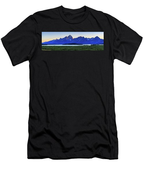 Men's T-Shirt (Athletic Fit) featuring the photograph Teton Sunset by David Chandler