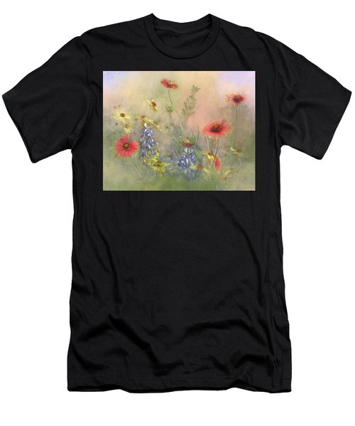 Texas Wildflowers Men's T-Shirt (Athletic Fit)