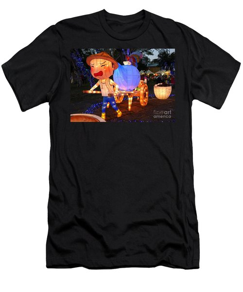 Men's T-Shirt (Athletic Fit) featuring the photograph The 2016 Kaohsiung Lantern Festival by Yali Shi