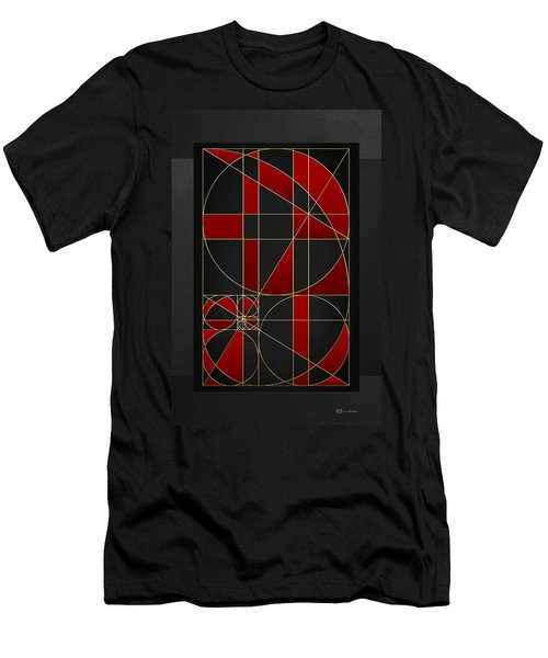 The Alchemy - Divine Proportions - Red On Black Men's T-Shirt (Athletic Fit)