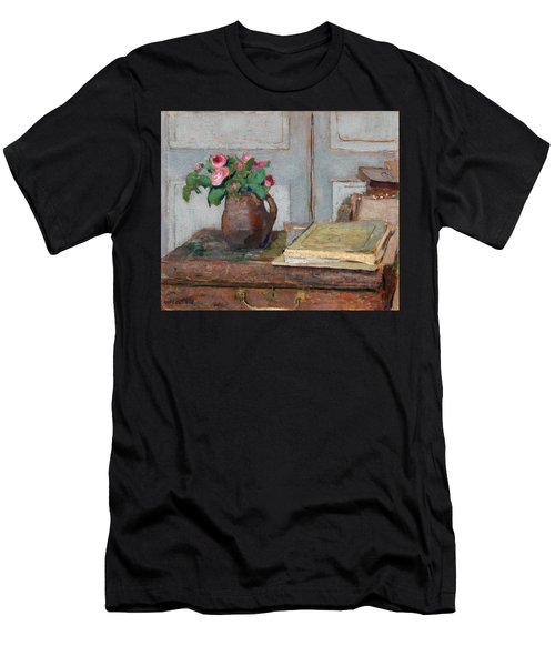 The Artist's Paint Box And Moss Roses Men's T-Shirt (Athletic Fit)